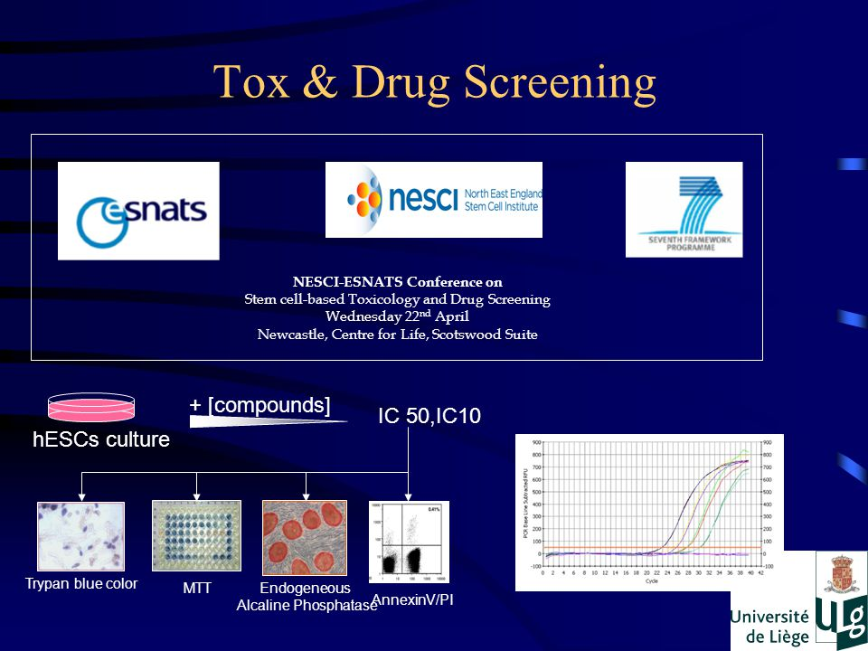 Tox & Drug Screening + [compounds] IC 50,IC10 hESCs culture